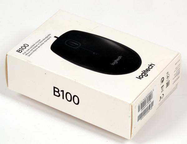 (Neuware) Logitech B100 opt. Maus schwarz mit Kabelanschluss USB 800dpi